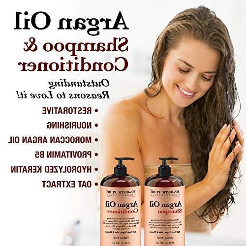 Argan Oil Shampoo Conditioner, Improve formula Sulfate Gentle for Use, Men Women,