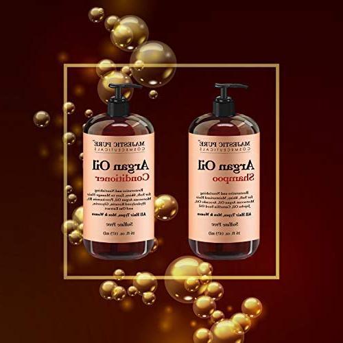 Argan Oil Conditioner, from Majestic Improve formula Vitamin Enriched, Gentle Restoration Men and Women, fl