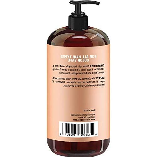 Argan Oil Shampoo by Majestic Pure - Enriched Gentle Restoration Formula for Sulfate Free, Moroccan & Potent for Men and 16
