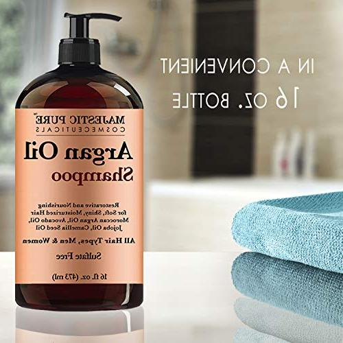 Argan Oil Shampoo Majestic Pure Enriched Gentle Formula for Use, Sulfate Free, & Potent for