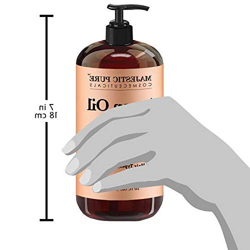 Argan Shampoo by Majestic Formula Daily Sulfate Free, & Ingredients, for 16 oz.