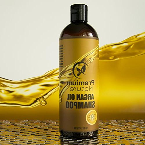 Argan Oil Shampoo Free - Natural & Volumizing, Gentle on Curly & Hair, Growth Treatment & Loss For Men & 16 oz