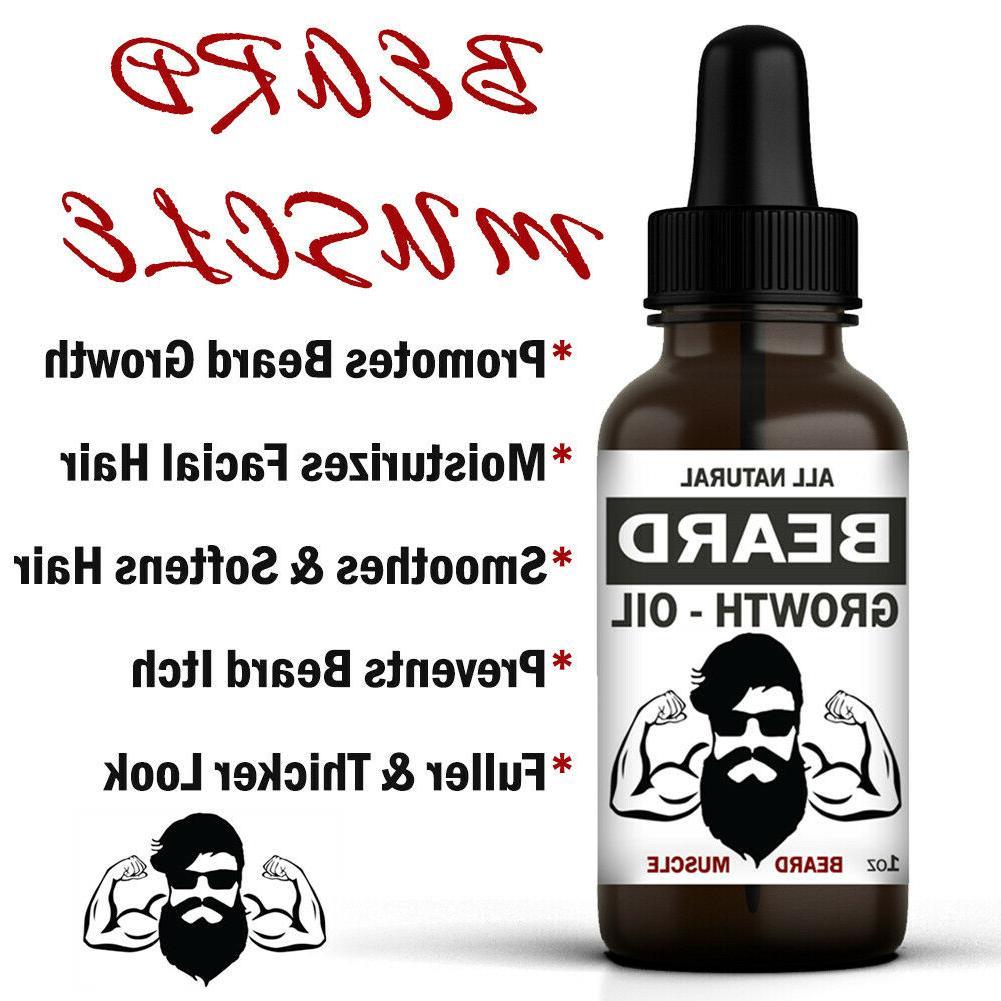 Beard Hair Serum Mustache Fast Treatment Men