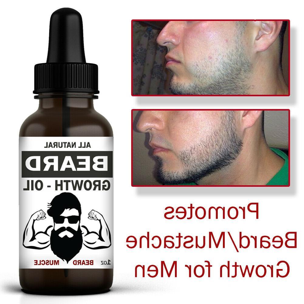 Beard Growth Facial Hair Serum Mustache Treatment