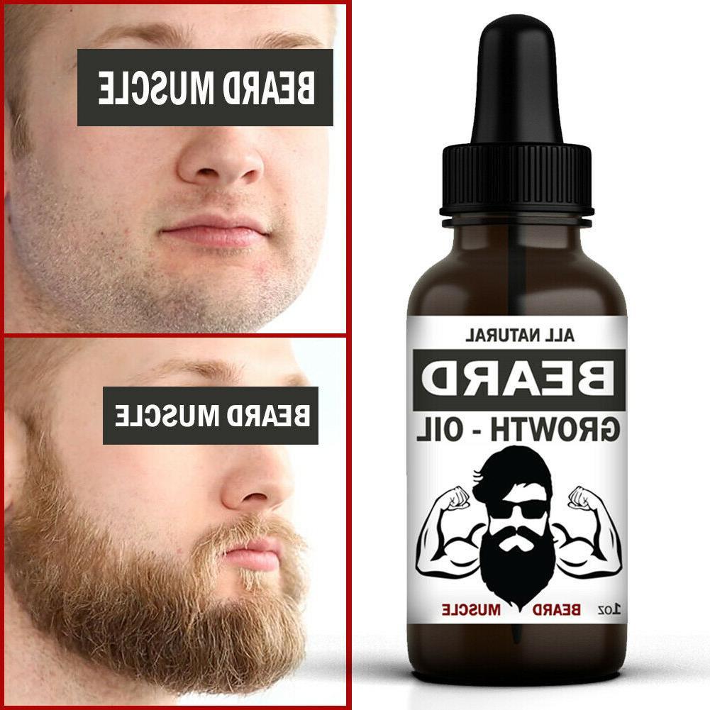 Beard Growth Hair Serum Care Mustache Fast Treatment For Men