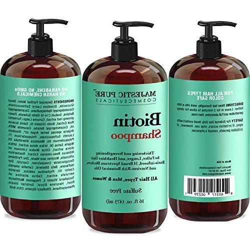Majestic Biotin Shampoo Hair Shampoo - Infused with Vitamins, Nourishing and Volumizing, Blockers, & Women fl oz