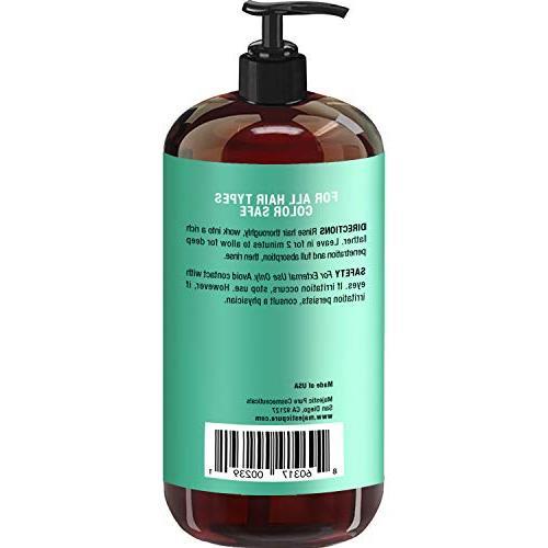 Majestic Pure Biotin Shampoo Shampoo Hair - Vitamins, Blockers, for Women - 16 oz