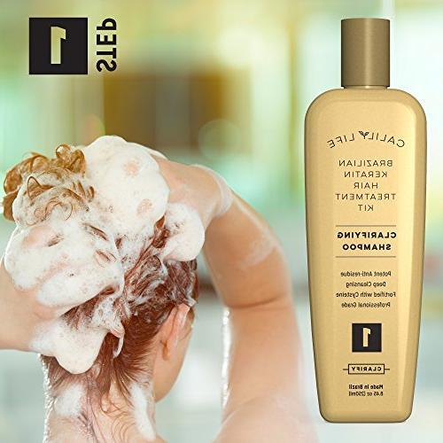Brazilian Set Life Professional Grade Includes Clarifying Shampoo, and Silk Finnish - 3 Step System