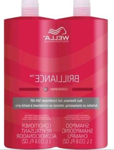 Wella Brilliance Shampoo and Conditioner  Hair Coarse  33.8