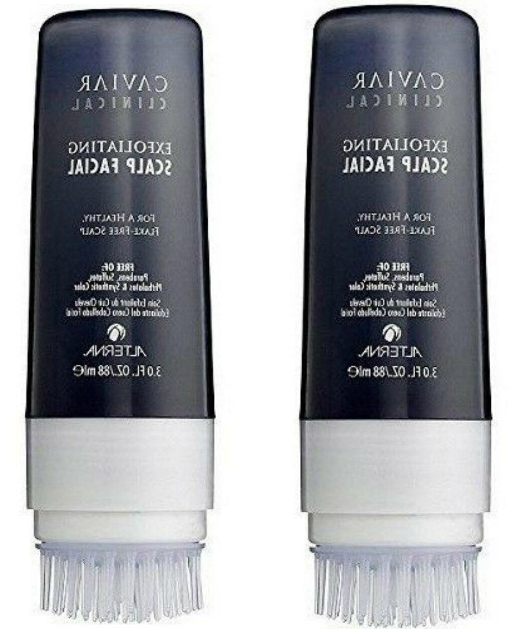 caviar exfoliating scalp facial