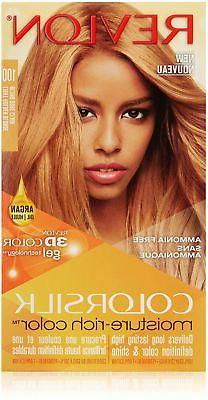 Revlon ColorSilk Moisture Rich Hair Color, 100 Light Golden