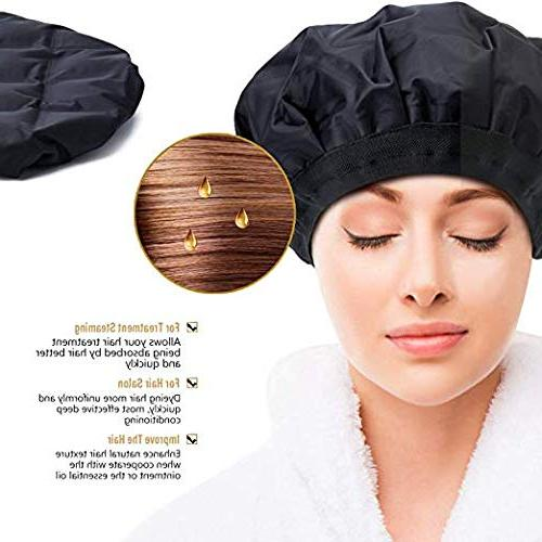 Professional Deep Heat - Women Hair Styling & Treatment - Portable Microwavable Heat Therapy & Thermal Spa Hair Steamer Gel Cap
