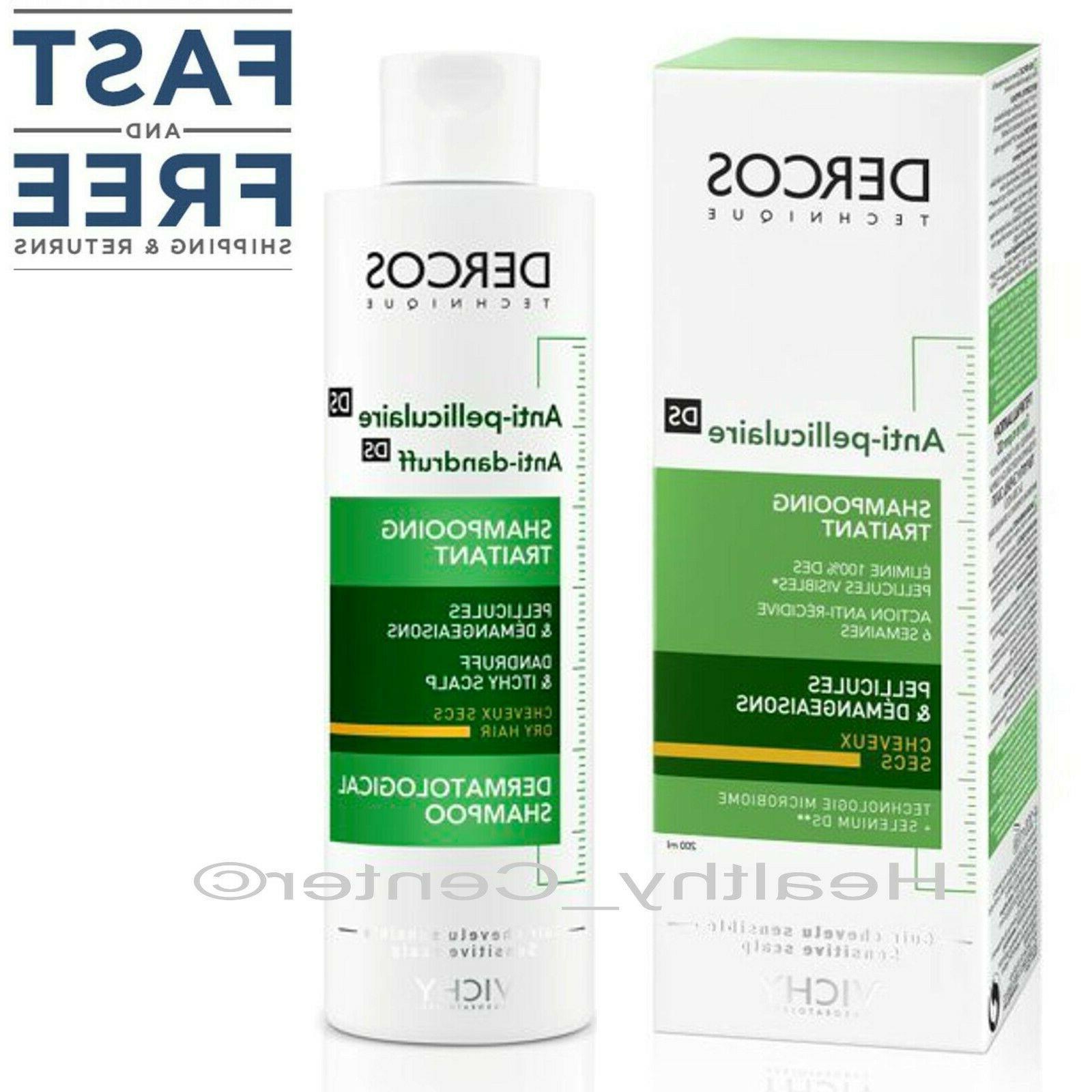 dercos anti dandruff treatment shampoo for dry