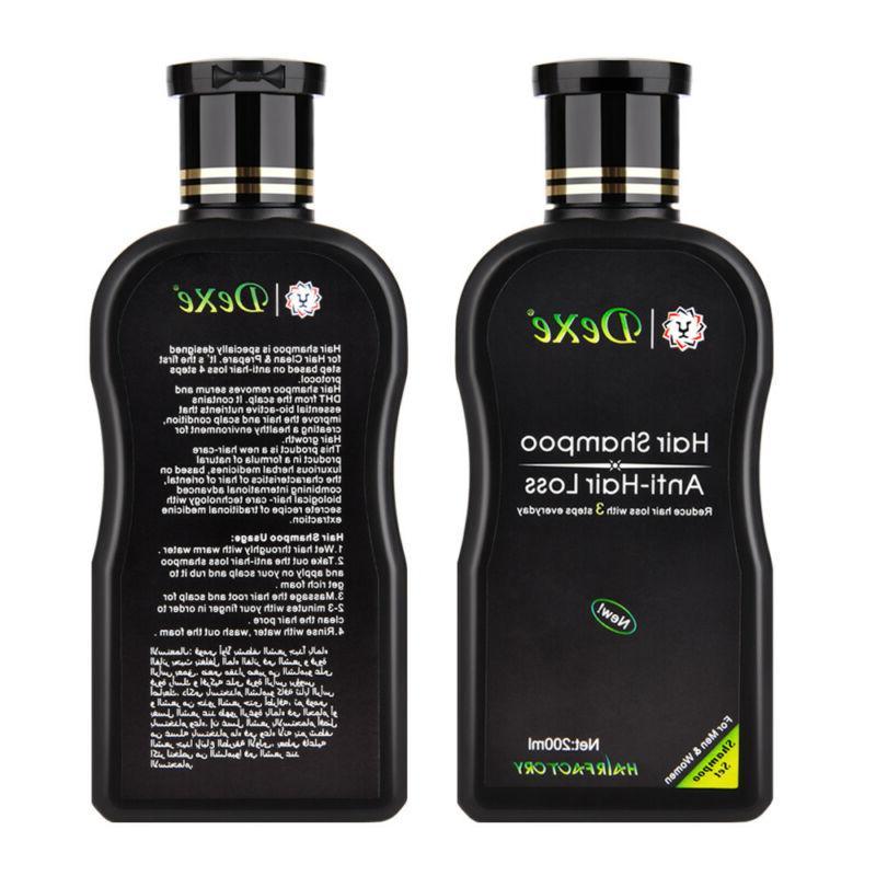 Dexe 200ml Chinese Herbal Anti-Hair Shampoo Avoid Hair Loss