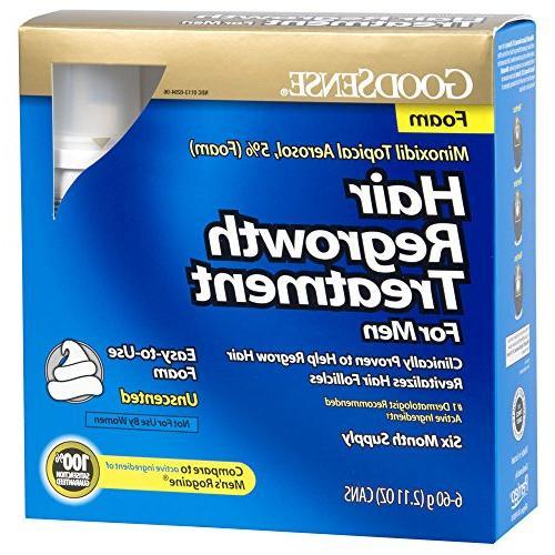 goodsense minoxidil topical aerosol foam