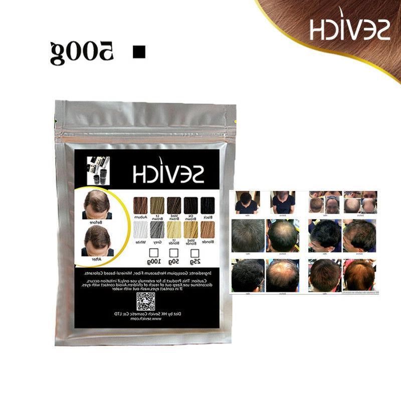 Sevich Hair Fiber Refill 500g Keratin Powder Color Volume Pr