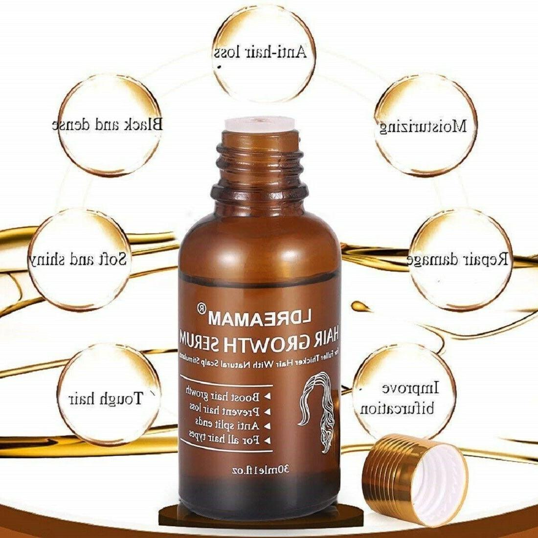 Hair Growth Oil Loss Serum Treatment Fast