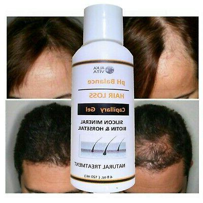 HAIR LOSS pH Balance Topical Gel Mineral Silica Aloe Vera Na