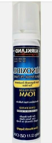 Kirkland Hair Regrowth Treatment Minoxidil 5% Foam for Men -