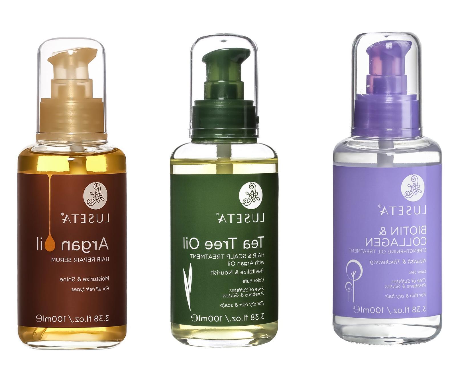 hair treatment with biotin collagen argan tea