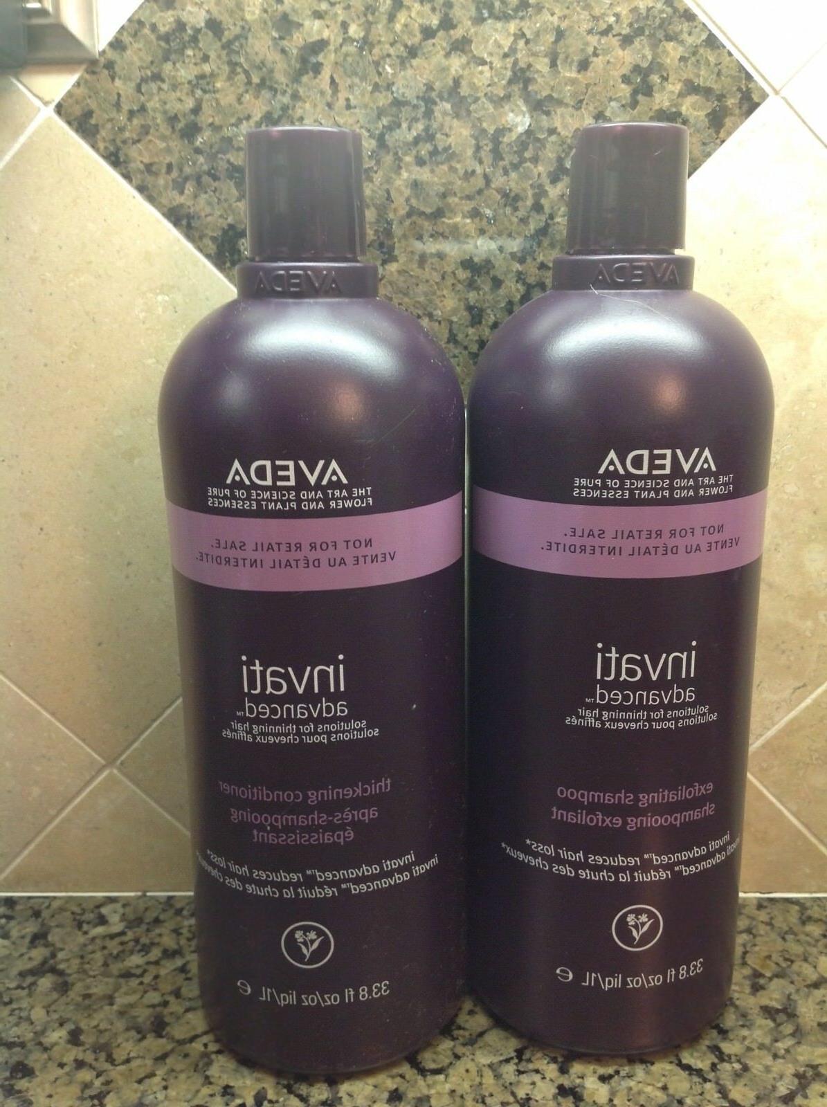 Aveda Invati Advanced Exfoliating Shampoo and Thickening Con