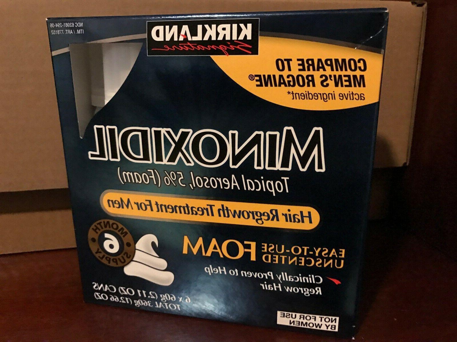 kirkland hair regrowth treatment minoxidil foam