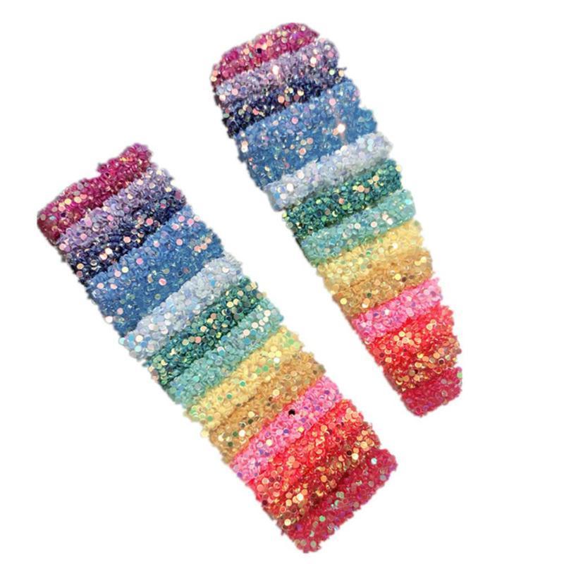 Korean Color Hairpin Excellent Alloy Electricity Process Rainbow Sequins Women BB <font><b>Hair</b></font> <font><b>Accessories</b></font>