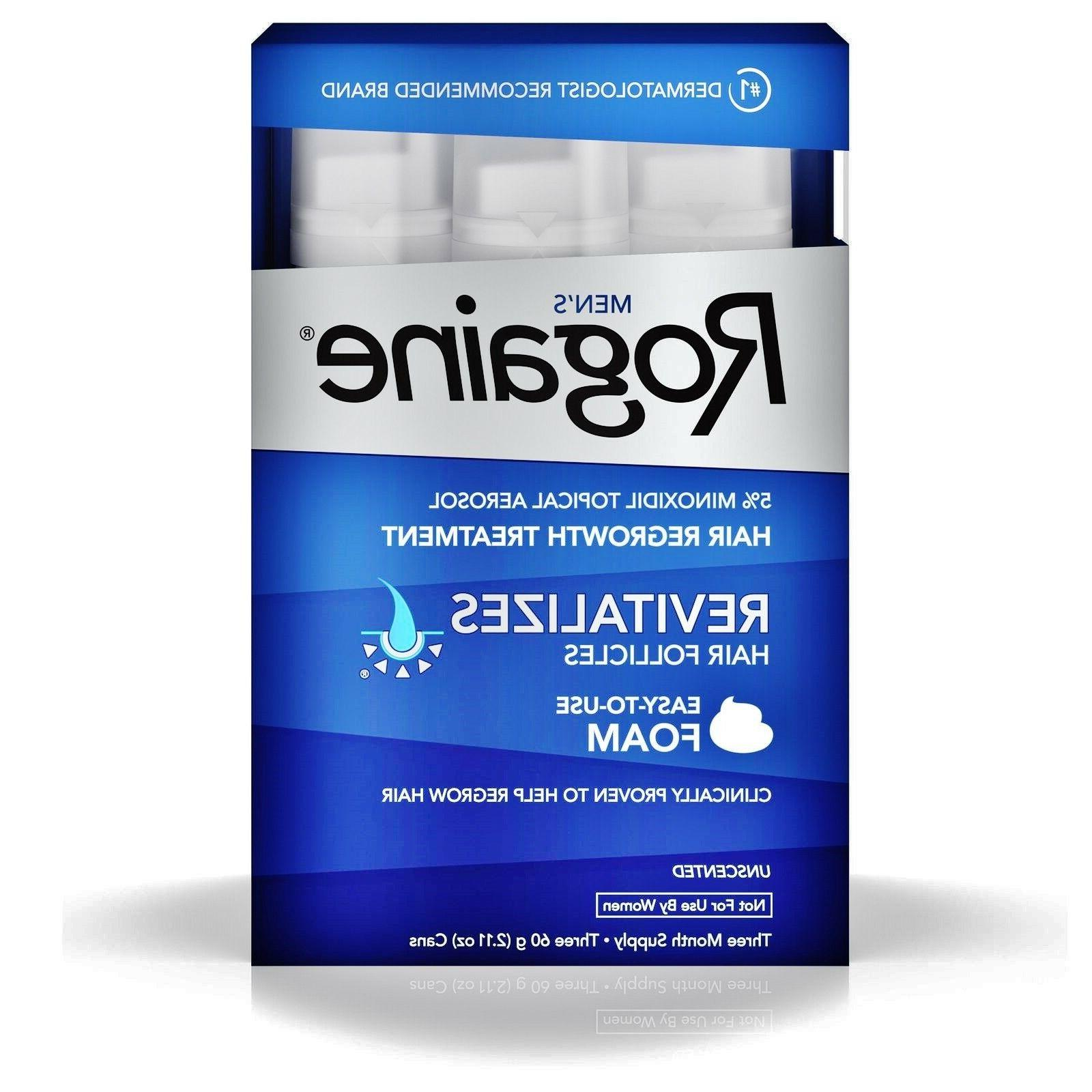 Men's Rogaine Hair Regrowth Treatment, 5% Minoxidil Topical