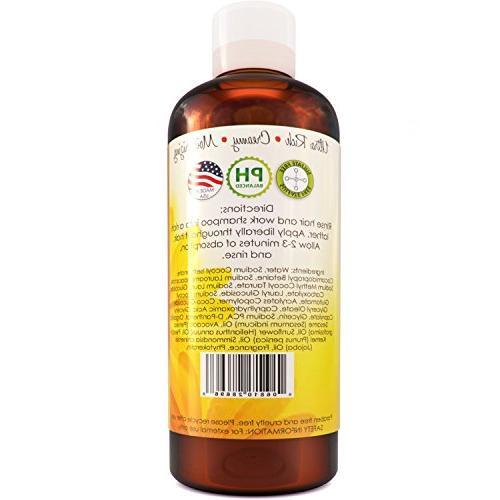Moisturizing Shampoo Damaged Hair - Anti Frizz Conditioning Cleanser - + Dry Hair Silky Sexy Therapeutic Organic Sesame & Keratin