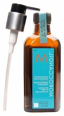 moroccan oil hair treatment bottle