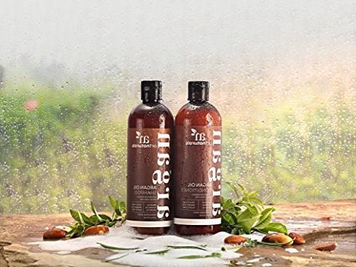 ArtNaturals Oil and Conditioner Set Free - Volumizing Moisturizing - Gentle Curly & Hair Keratin