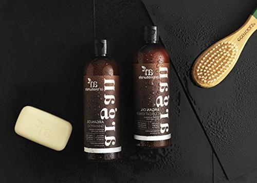 ArtNaturals Organic Oil and Conditioner Set Free Curly Hair with Keratin