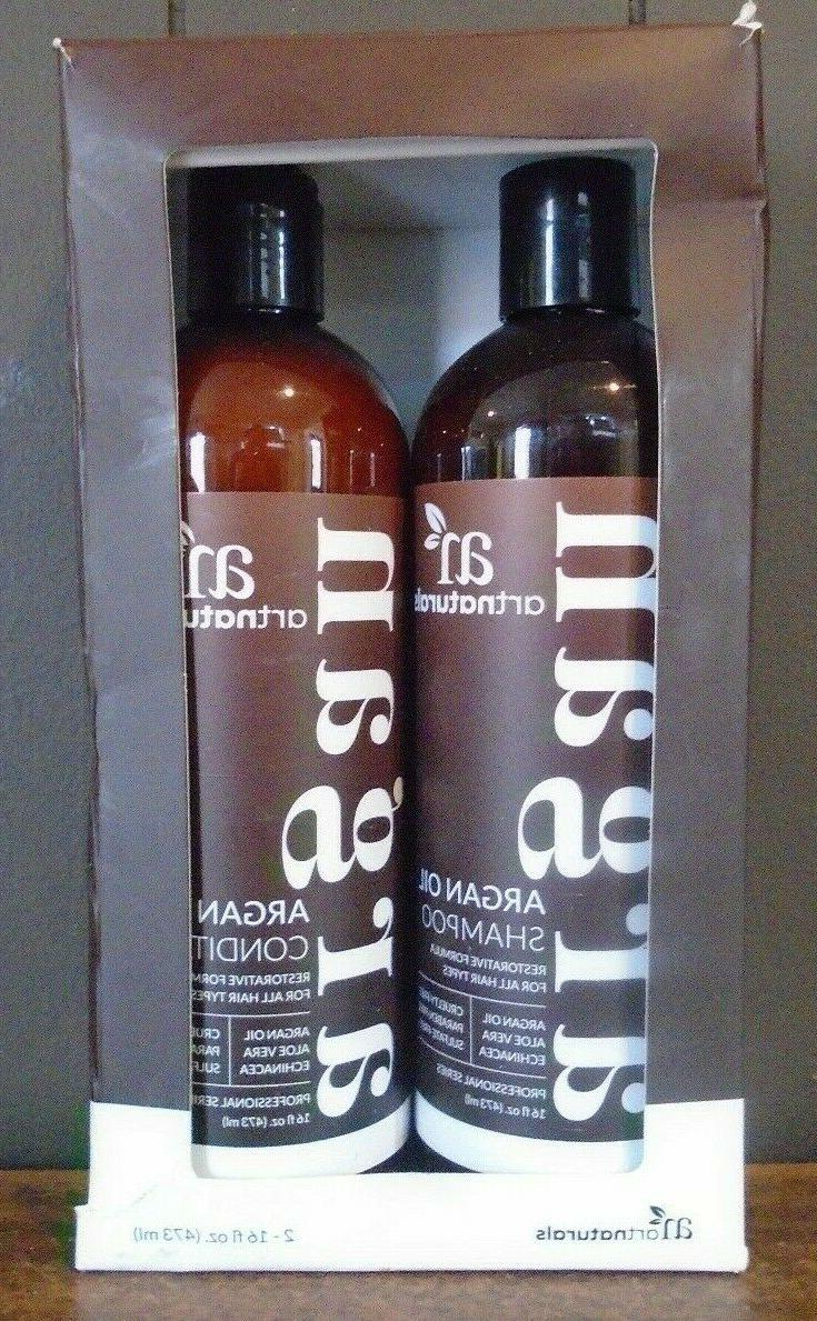 organic moroccan argan oil shampoo conditioner set