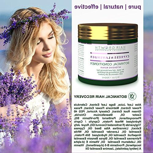 Hair Loss Conditioner Lavender - Cypress Intensive For Weak Thinning Postpartum / / DHT Bocking