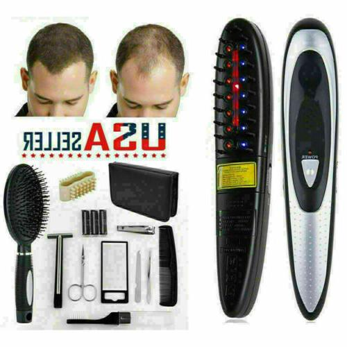 Anti Loss Hair Comb Brush Laser Growth Treatment Therapy Kit