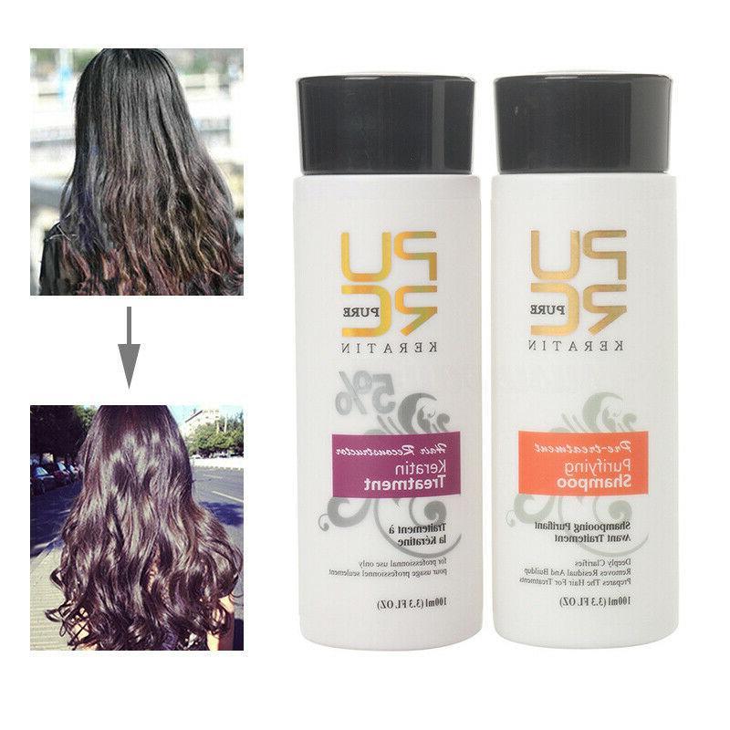 pure brazilian keratin hair straightening treatment 100ml