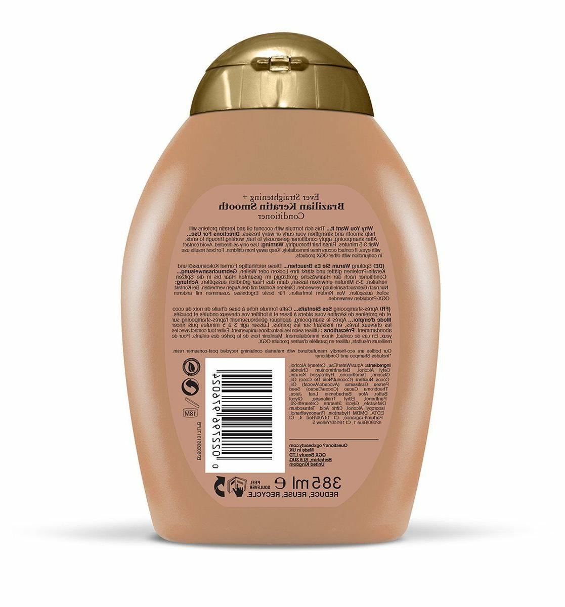 Ogx And Conditioner Hair Care Smooth Treatment