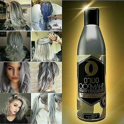 Ouro Shampoo Toning Blonde & Silver Hair Treatment 8.45oz, S