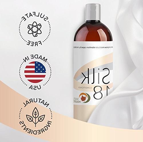Silk18 Hair Conditioner Argan Free Treatment for Dry Damaged Silk Acids Jojoba & All Hair Safe Hair