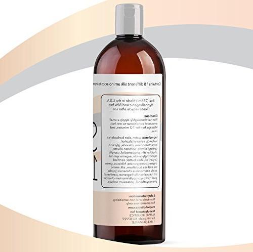 Silk18 Hair Treatment for Dry Damaged Hair Silk Acids All Hair & Safe Hair