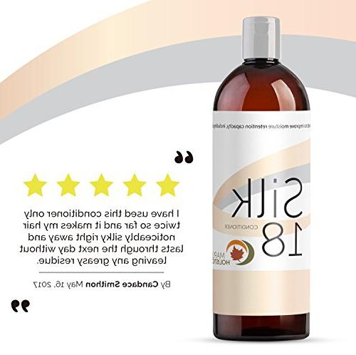 Silk18 Natural Conditioner Argan Treatment for Damaged Acids All Hair & & Safe Color Hair