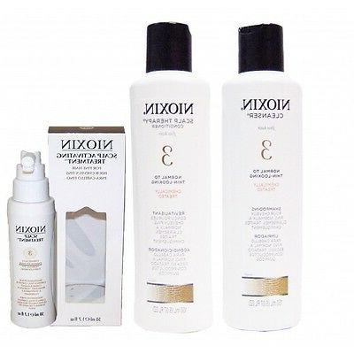 Nioxin System 3 Trio Kit Cleanser,Scalp Therapy& Scalp Treat