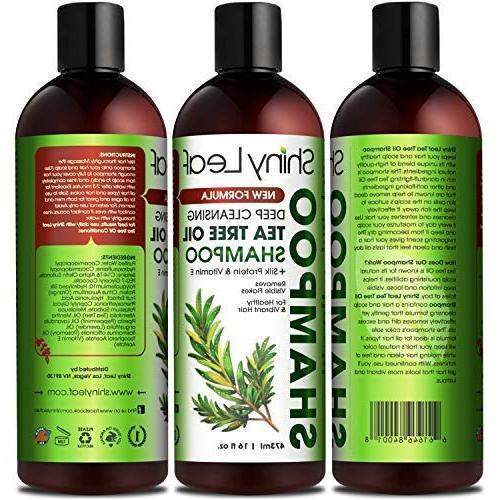 Tea and Conditioner Anti-Dandruff Formula, Detoxify and Hair & Color Treated Hair, Dry Scalp Care, Lice Repellant 16 Fl.