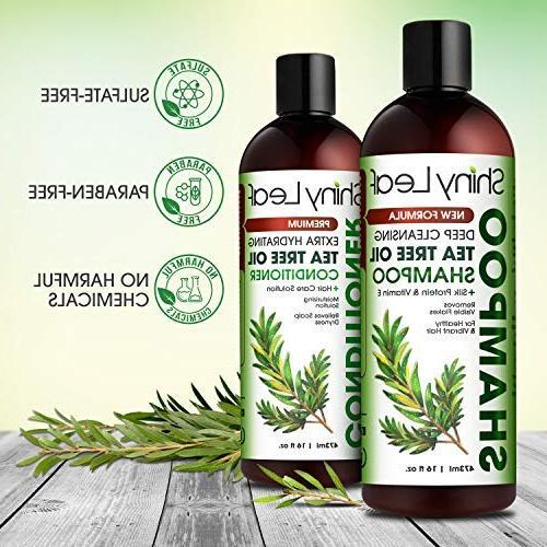 Tea and Conditioner Anti-Dandruff Formula, Detoxify Cleanse & for Color Treated Hair, Dry Repellant