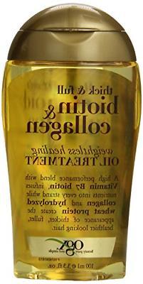 OGX Thick & Full Biotin & Collagen Weightless Healing Oil Tr