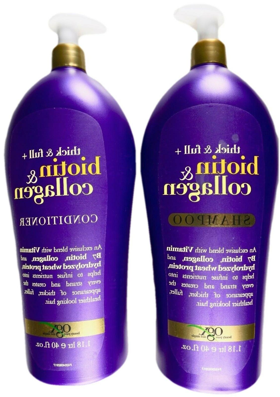 thick and full biotin plus collagen shampoo