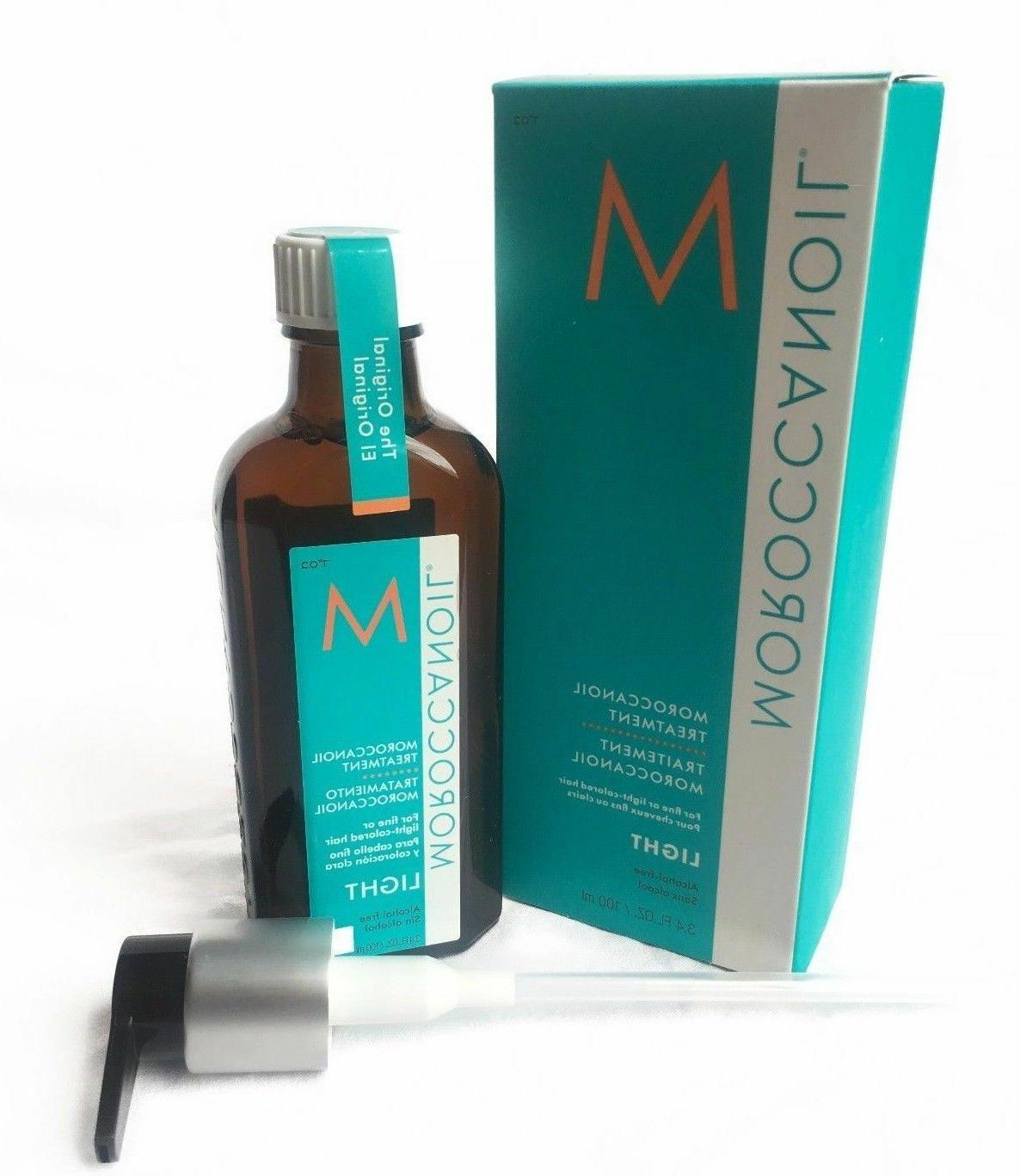Moroccanoil Treatment Oil Original Light For Hair Type In Different Sizes