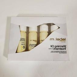 label.m Warming Oil Treatment 4 Pack NEW Conditions Promotes