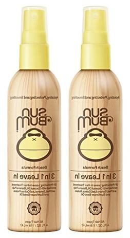Sun Bum 3 In 1 Leave In Hair Conditioning Treatment, 2 Pack