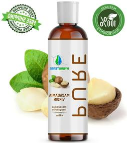 Macadamia Nut Oil 4 oz 100% PURE Cold Pressed Natural Hair H